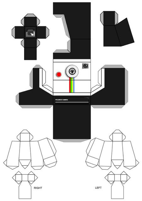 Câmeras Template baixar , imprimir e montar