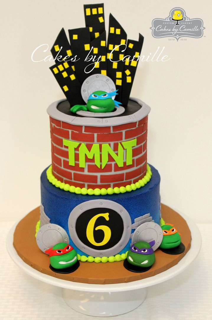 Ninja Turtles Cake, TMNT cake, Teenage Mutant Ninja Turtles birthday ...