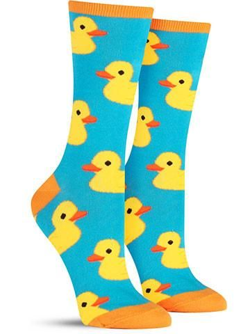 rubber ducky awesome novelty animal socks