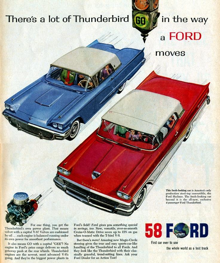 A D A Eb C Afb Ec Ba Ad Car Ford Thunderbird