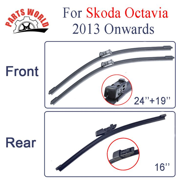 Combo Front And Rear Wiper Blades For Skoda Octavia 2013 Onwards,Windscreen Rubbers Wipers Car Accessories Auto Parts