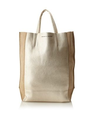 Ampersand as Apostrophe Women's Large Reversible Tote, Gold