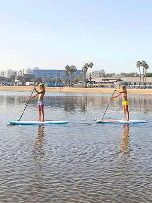 Best Stand-Up Paddling: Mother's Beach, Marina Del Rey- perfect for moms and kids. calm, shallow waters, shaded picnic tables, accessible parking, showers. ideal place to master stand-up paddleboarding, with rentals and lessons available right by the beach (we like Pro SUP Shop, prosupshop.com). We cruise the boat-filled harbor and sidle up to sea lions, then head to shore to have a bite at a nearby restaurant, such as the one at Jamaica Bay Inn. beaches.lacounty.gov