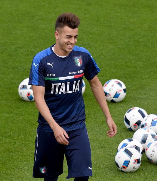Stephan El Shaarawy  looks on during the Italy training session at the club's training ground at Coverciano on May 27, 2016 in Florence, Italy.