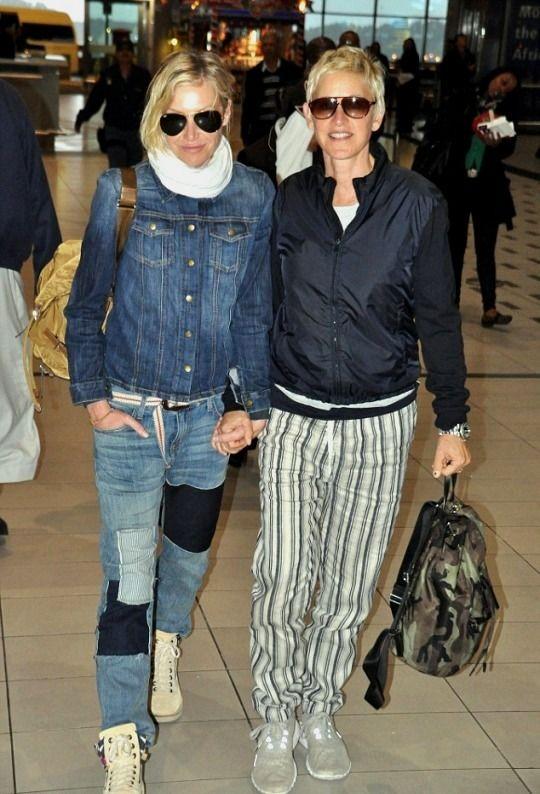 Ellen and Portia at the Cape Town airport - Ellen and Portia DeGeneres
