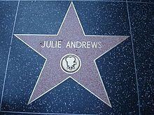 Julie Andrews' star on the Hollywood Walk of Fame.