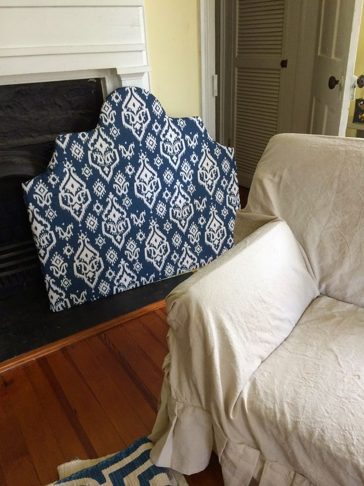 Headboard From Plywood Batting Fabric And A Staple Gun