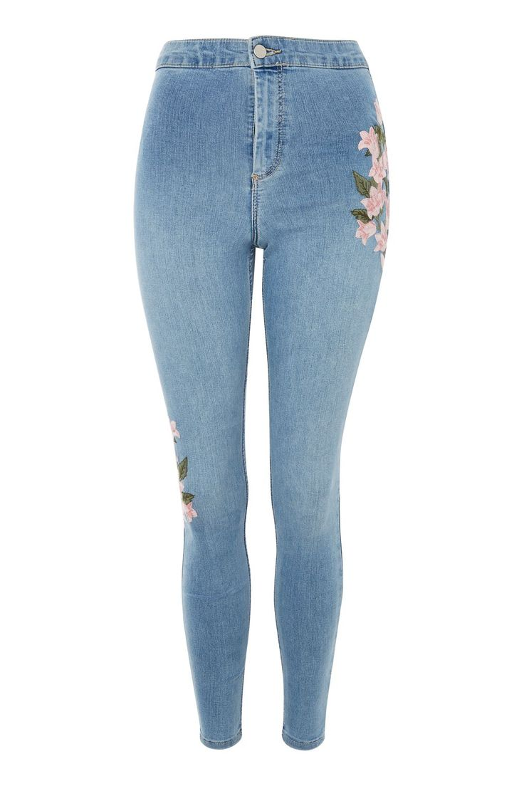 MOTO Floral Embroidered Joni Jeans - New In Fashion - New In - Topshop Europe