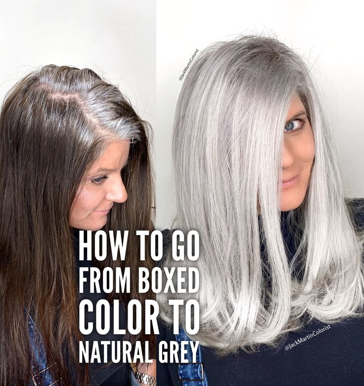 How to go from boxed color to natural grey. Check the link below.