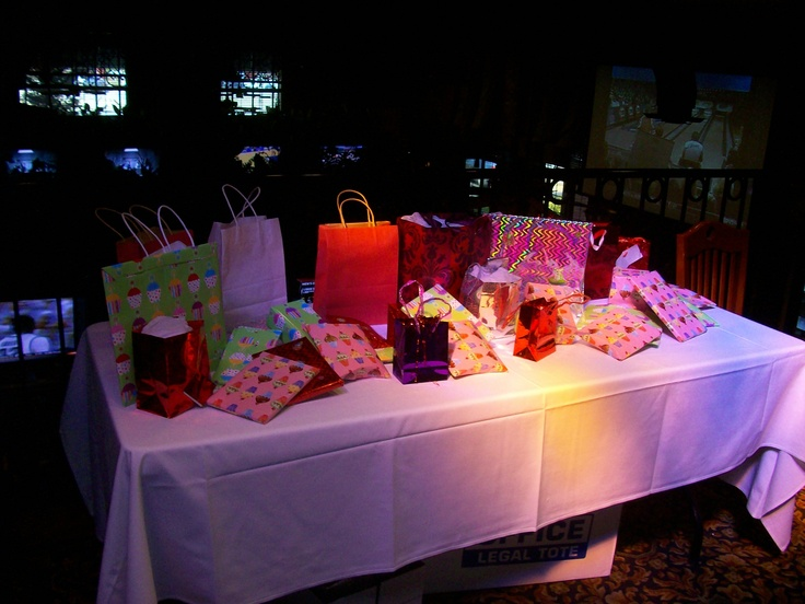 Bridal Shower Prizes For Game Winners Guests Choose Their Prize For Winning A Game