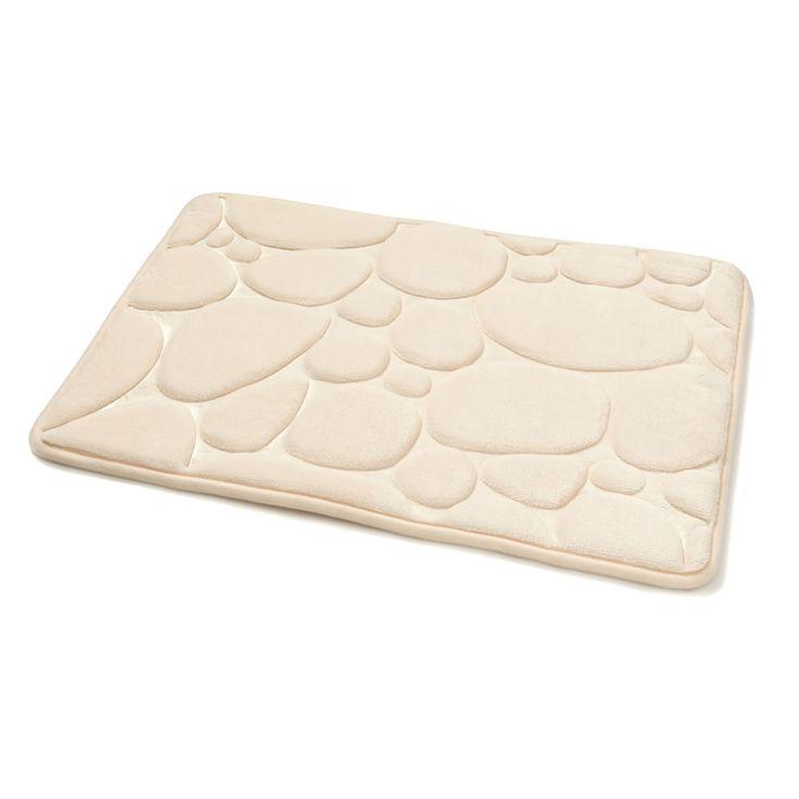 Wilko Memory foam Bath Mat Pebble Cream