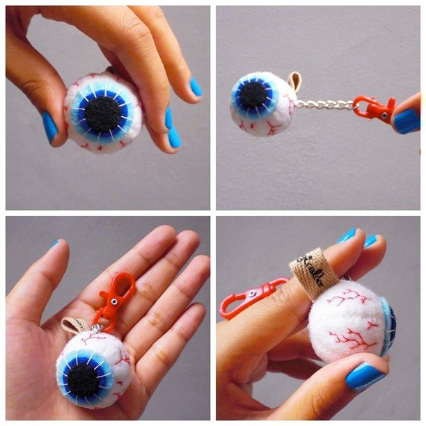 Eye ball keychain
