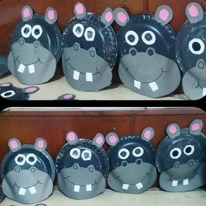 paper plate hippo craft idea for kids & 11 best Hippo craft idea for kids images on Pinterest | Hippo crafts ...