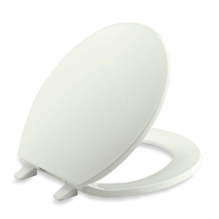 Kohler K-4775 Brevia Q2 Round Closed-Front Toilet Seat with Quick-Release and Qu