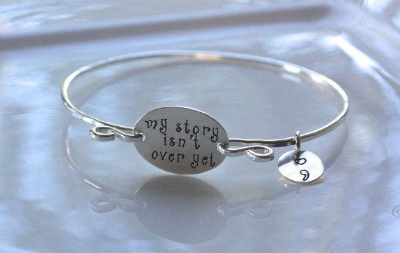 Semicolon Bracelet, My Story Isn't Over Yet Jewelry, Awareness Jewelry, Suicide Awareness, Depression Awareness, Semicolon Project