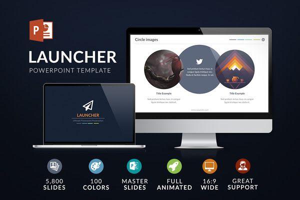 Launcher   Powerpoint template