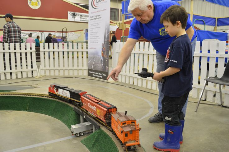 Train area at the Royal MB Winter Fair in Brandon at the Keystone Centre