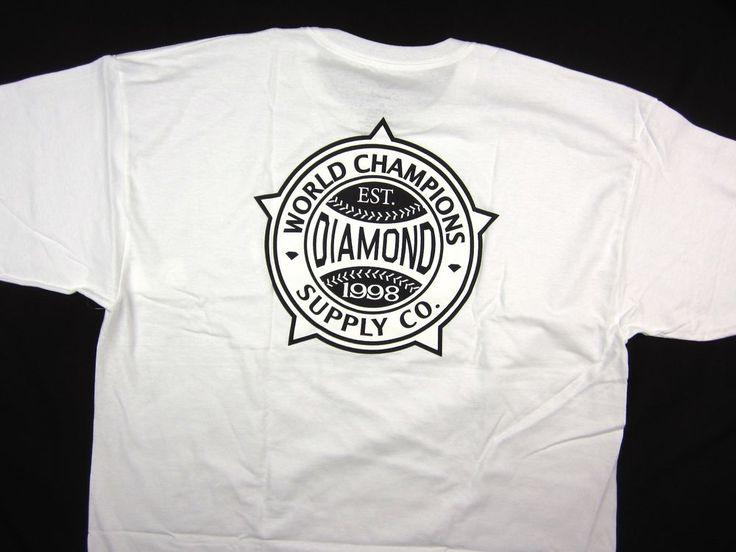 Diamond Supply Co World Renowned Tee white shirt men's skate Urban size XL #DiamondSupplyCo #GraphicTee