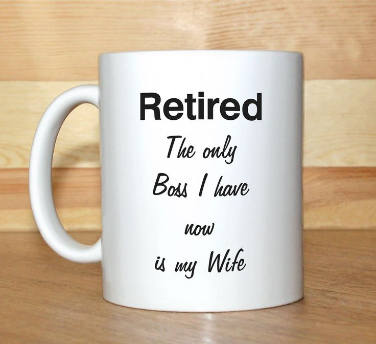 retirement letter to boss%0A Retirement mug  Retirement gift  Mug with saying  Retired mug  Funny mug