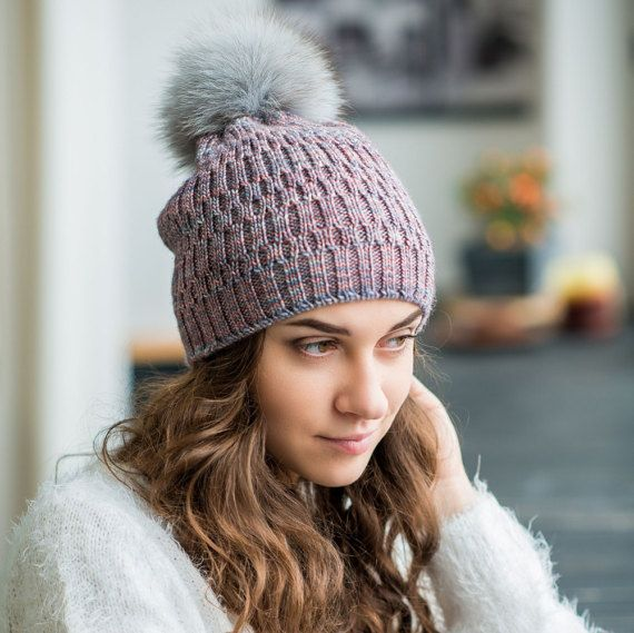 Silk Merino Beanie Pom Pom Beanie Hat Trendy by TikvaBeauties