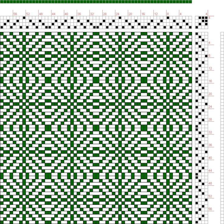 проект изображения: twill квадратов 2, КБ оригинал, 4С, 4Т