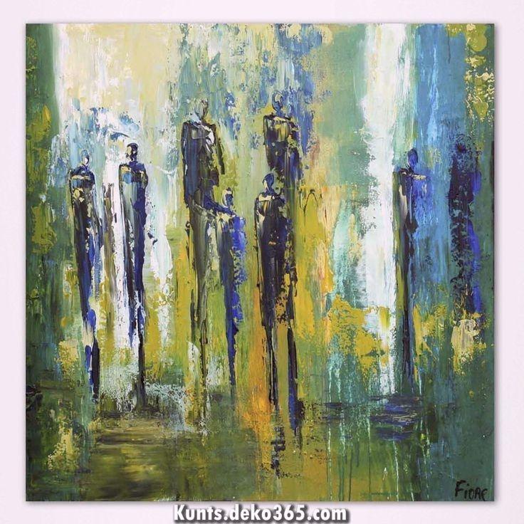 moderne abstrakte schilderij mit blauen figuren van kunstenaars fiore design magazin malerei kunst bilder gesicht abstrakt modern