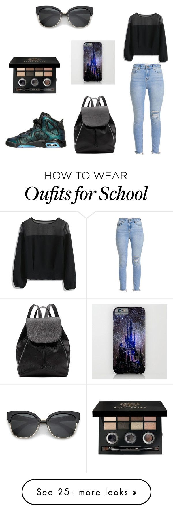 """Retro 6 outfit"" by nnlamar-1 on Polyvore featuring Chicwish, Witchery, Disney and Bobbi Brown Cosmetics"