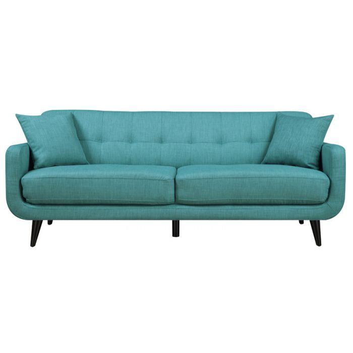 Swell Hadley Aqua Blue Mid Century Modern Sofa Small Spaces Cjindustries Chair Design For Home Cjindustriesco