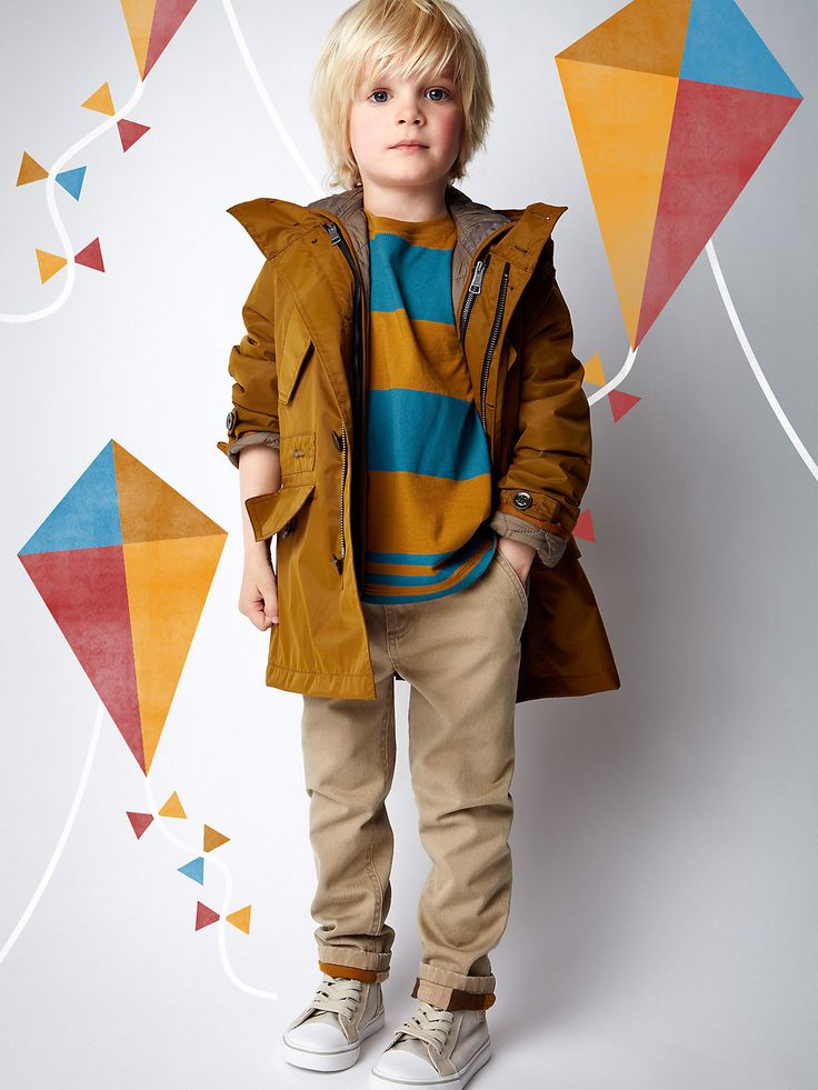 This outfit is from Burberry kids, I love the mustard yellow colour (which doesn't sound appealing) and the blue look great. The jacket it beautiful and may I add in can I have him?!