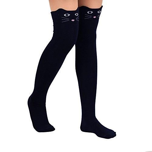 Oferta: 2.99€. Comprar Ofertas de Ularma Calcetines lindo gato Catoon largo de mujer sobre calcetín alto de rodilla (Talla única, Marina de guerra) barato. ¡Mira las ofertas!