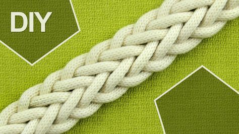 How to Braid with SEVEN strands - DOUBLE BRAID Tutorial. This braid can be used for making hairdo, belt, bracelet, etc.