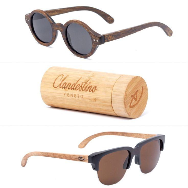 Beautiful wooden eyewear by Clandestino. Venice.