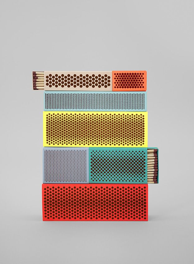 Matches. Product photography from Danish company Hay's new brochure.