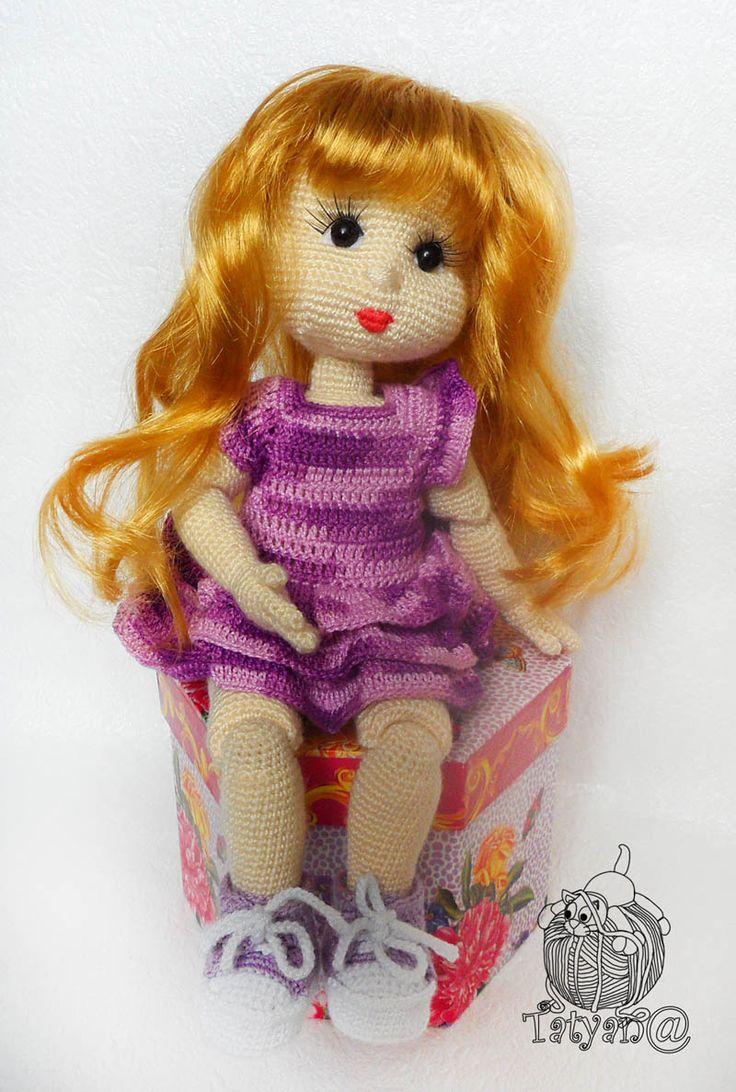 Шарнирка, вязаная кукла, кукла крючком | Авторские вязаные ...