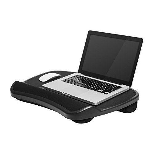 Portable Laptop Desk Black Lap Table Study Work Computer Notebook Mouse Pad XL #Unbranded