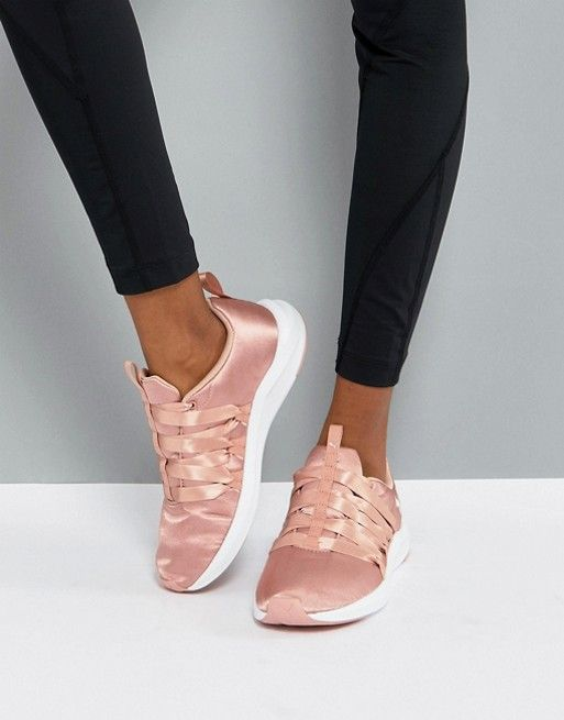 53a8ac6097b Puma Prowl Alt Satin Training Trainers In Dusky Pink in 2019 | Clothes | Puma  sneakers, Sneakers, Womens training shoes