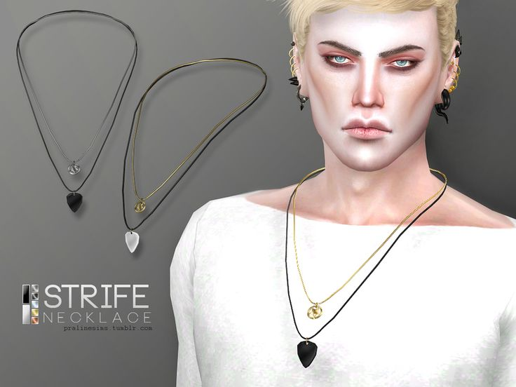 Necklace for your male rockstars, 10 colors.  Found in TSR Category 'Sims 4 Male Necklaces'