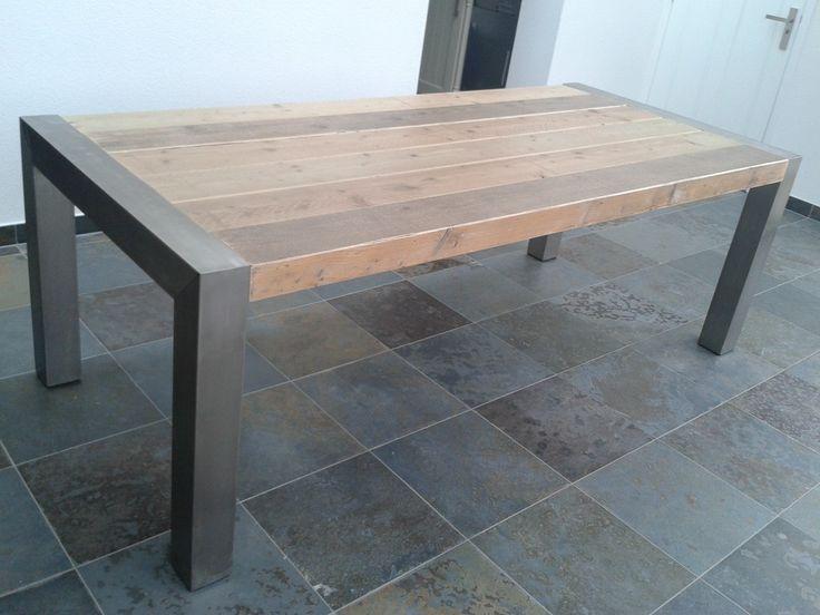 steigerhout staal meubel - Google zoeken