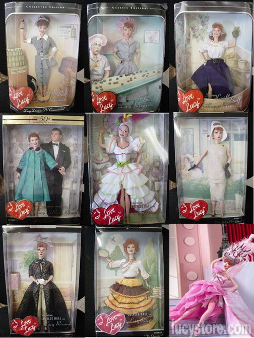 A Collection Of I Love Lucy Barbie Dolls...I've got to finish getting the rest of these :)