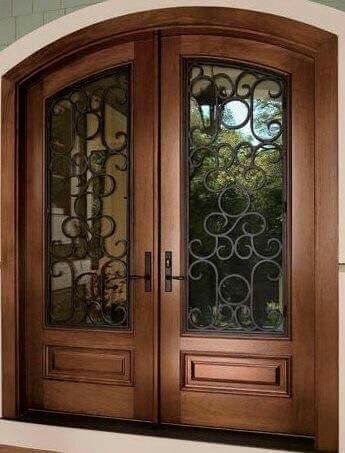 189 best images about herreria on pinterest iron gates for Puertas madera con cristal