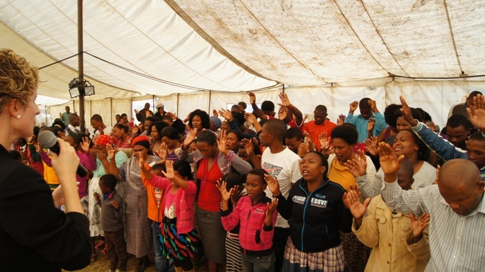 MTHATHA - All of them surrendering their lives to Jesus.