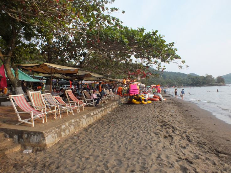 Bai Nai black sand beach near Ha Tien, Vietnam
