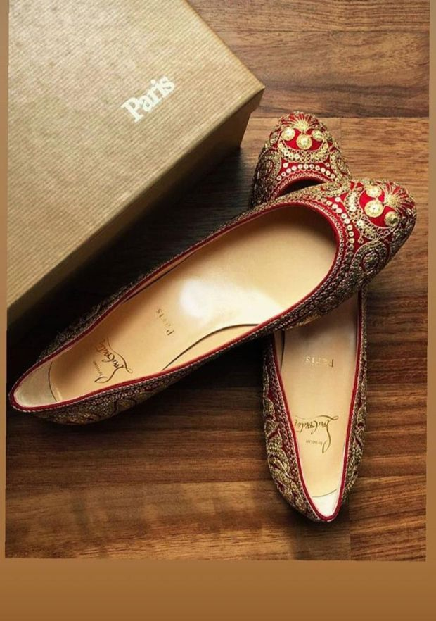 7e2780a82e08 Ranveer Singh – Deepika Padukone Wedding Shoe Affair Sabyasachi x Christian  Louboutin (2)