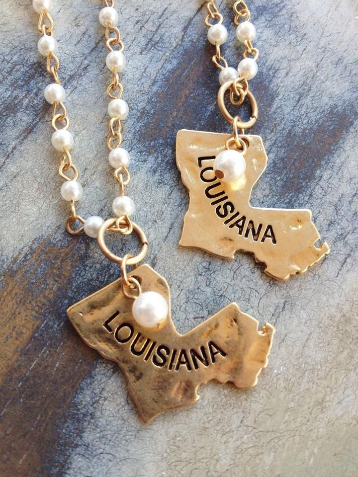 Fleurty Girl - Everything New Orleans - Louisiana Pearl Charm Necklace, $12.95.