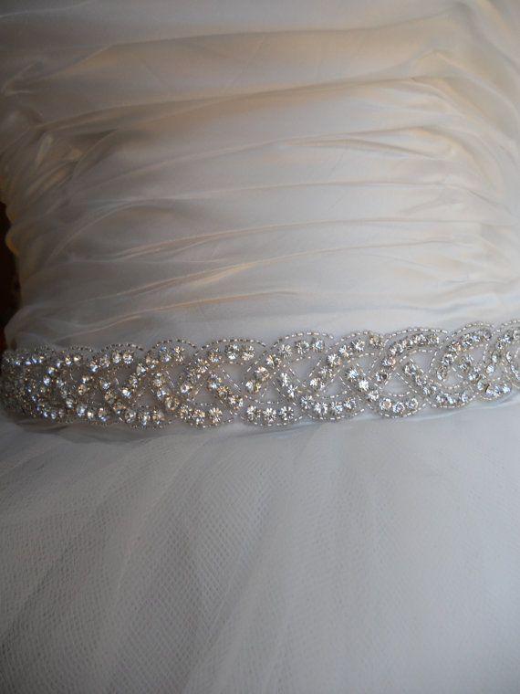 Crystal Wedding Dress Sash  Rhinestone by LostPemberlyDesigns, $60.00
