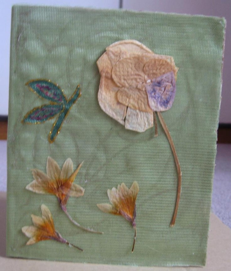 Card with dried leafs  https://www.etsy.com/listing/98992585/card-with-dried-leafs