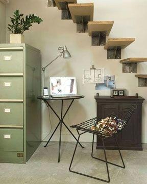 Un escalier spartiate mais design - 8 escaliers gain de place - CôtéMaison.fr