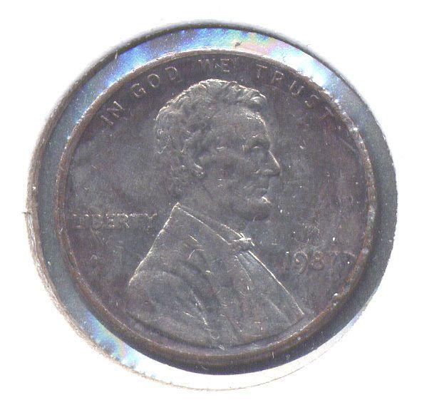 error #errorcoins 1987-P Lincoln Cent 90% Unplated Error - Circ