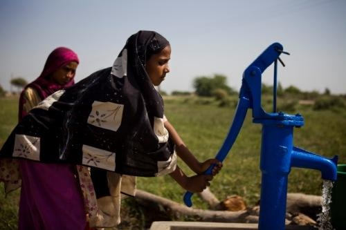 Launching our Clean Water Access Initiative with partner Tyco International.