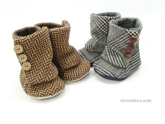 no 94 Toddler 3 Button Boots PDF Pattern by sewingwithme1 on Etsy